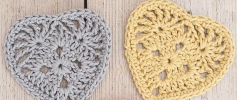 Crochet - A Granny Heart Pattern