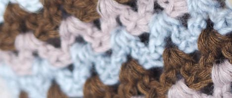 Free Crochet Pattern - V-stitch cowl and wrist warmers