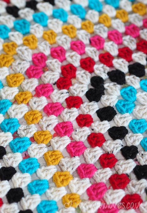 LuluLoves - Giant Crochet Granny Square Blanket