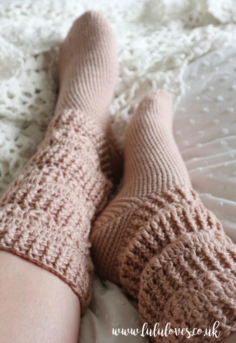Crochet Pearl Socks pattern by Vita Apala | Lululoves Blog