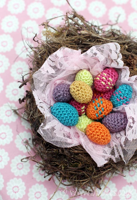 Crochet Mini Eggs - Lululoves