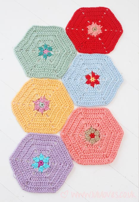 Crochet Hexagon Blanket - Lululoves