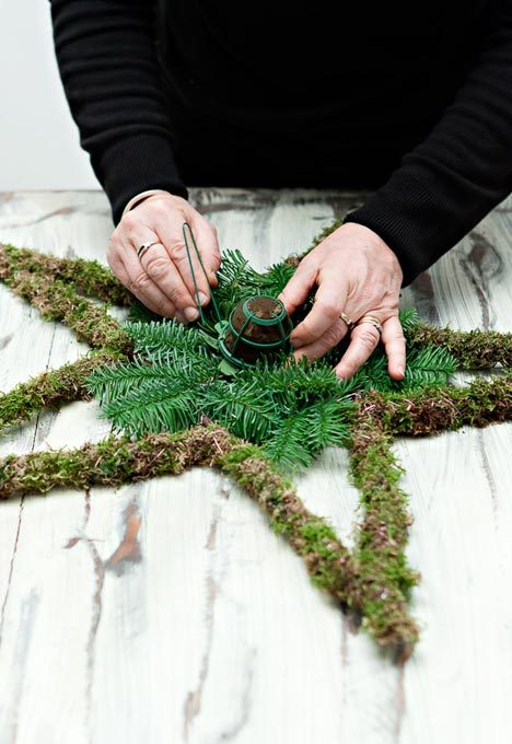 Vintage Christmas Star Wreath - How to