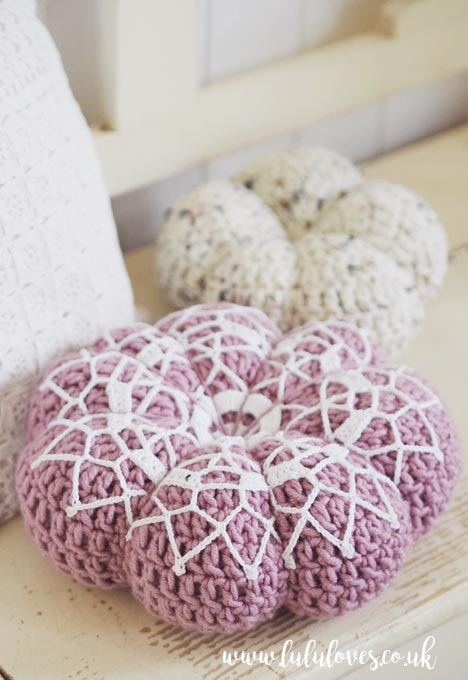 Lululoves: Rustic Lace Crochet Pumpkin pattern by MegMadeWithLove