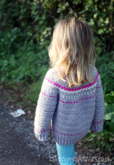 Crochet Fair Isle Cardigan - Lululoves: Pattern by Ball Hank N' Skein