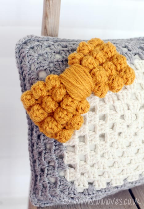 Chunky crochet bobble bow - Lululoves