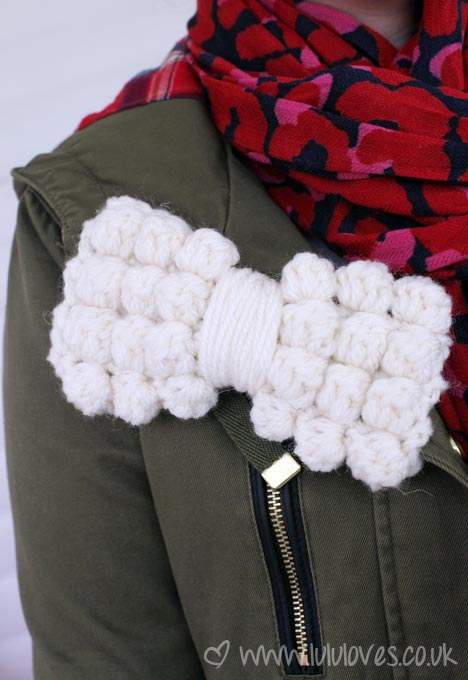 Crochet Chunky Bobble Bow Pattern - Lululoves