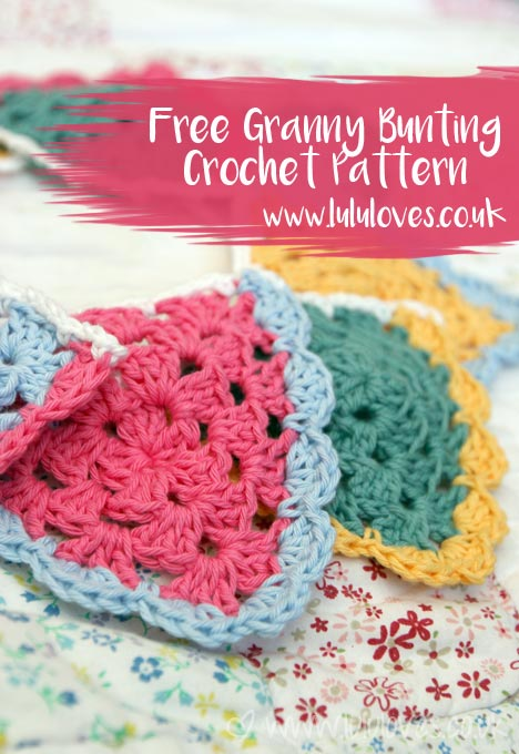 Crochet Granny Bunting Free Pattern - Lululoves Blog