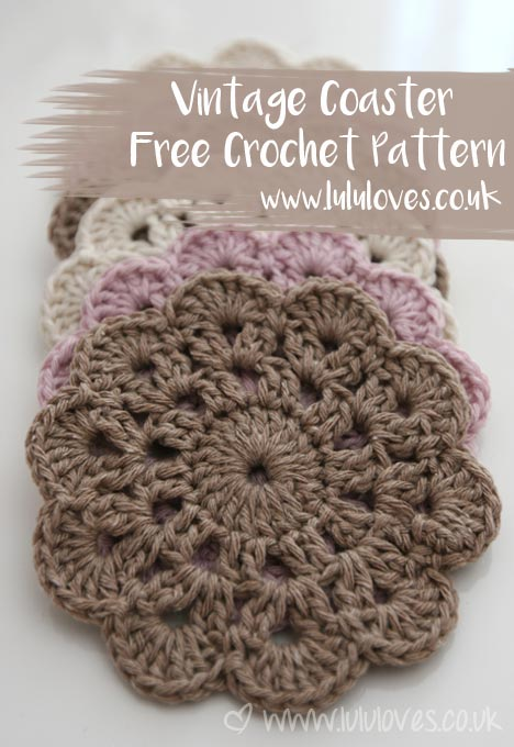 Crochet Vintage Coaster Free Pattern | Lululoves Blog