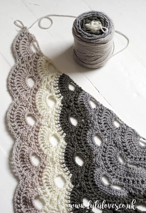 Lululoves Crochet Virus Shawl